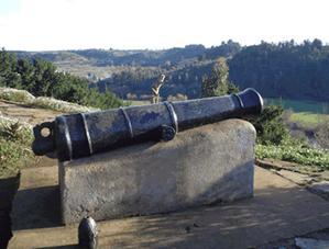 Cañón del fuerte Tucapel