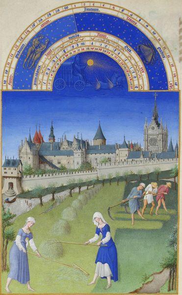 Gebroeders Van Limburg, Las muy ricas horas del duque de Berry, 1412-1416