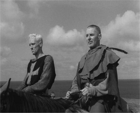 """Viaje de Antonius Block y el escudero Jons. Escena de """"El Séptimo Sello"""" de Ingmar Bergman."""