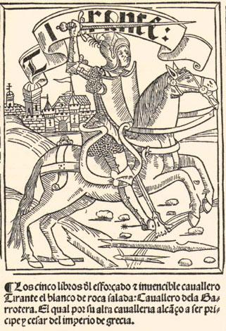 Portada de Los cinco libros del esforzado e invencible caballero Tirante el Blanco, 1511