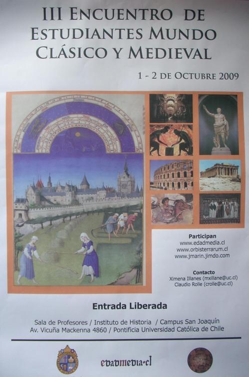 Afiche Tercer Encuentro Mundo Clasico y Medieval Final