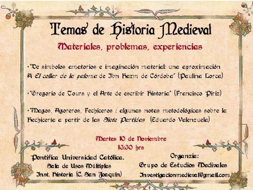 Afiche Primer Ciclo de Charlas Itinerantes