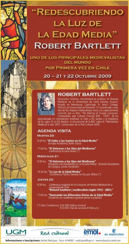 Afiche Redescubriendo la Luz de la Edad Media. Robert Bartlet.
