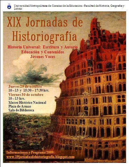 XIX Jornadas de Historiografía