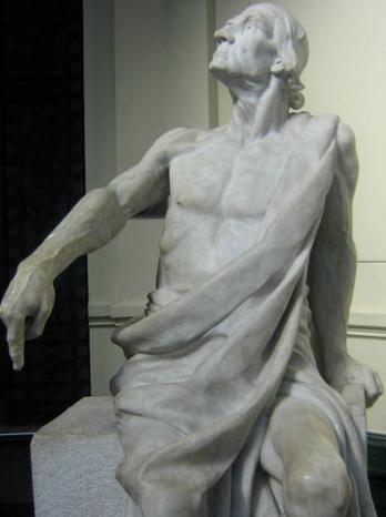 Matte Bello, Rebeca. Horacio (El viejo Horacio). 1900. Escultura en mármol. 204 x 118 x 124 cm. Museo Nacional de Bellas Artes, Chile. Fotografía: Paz Vásquez