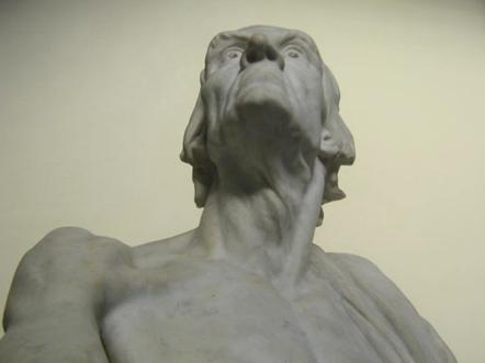 Matte Bello, Rebeca. Horacio (El viejo Horacio). 1900. Vista del rostro en contrapicada. Museo Nacional de Bellas Artes, Chile. Fotografía: Paz Vásquez