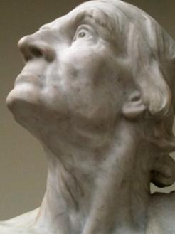 Matte Bello, Rebeca. Horacio (El viejo Horacio). 1900. Vista lateral del rosto. Museo Nacional de Bellas Artes, Chile. Fotografía: Paz Vásquez
