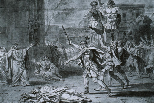 David, Jacques-Louis. Horatius, Victorious, Re-Enters Rome.1781. Sketches. ARTstorCollection: ARTstorSlideGallery. 27 de septiembre de 2012