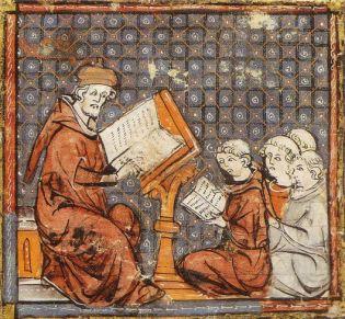 Curso de Filosofía en París. Grandes chroniques de France (s. XIV)