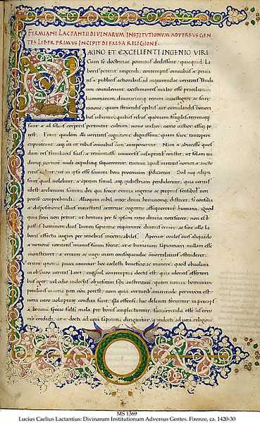Manuscrito de Lactancio