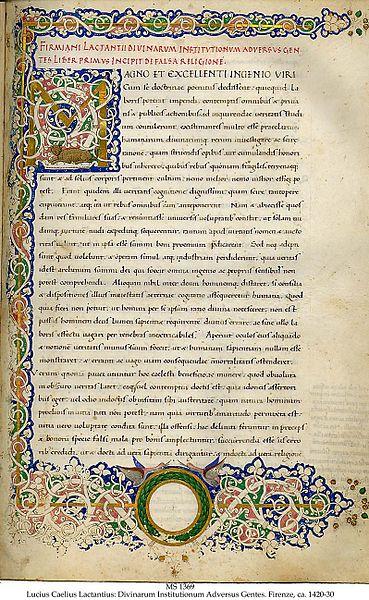 Manuscrito de Lactancio