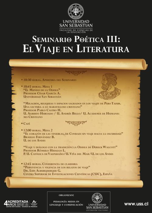 Afiche Seminario Viaje U. San Sebastián